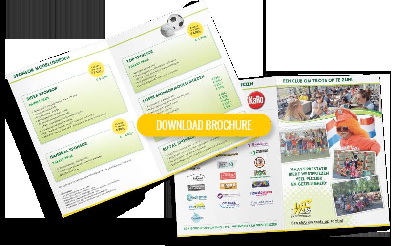 Brochure sponsorpakketten